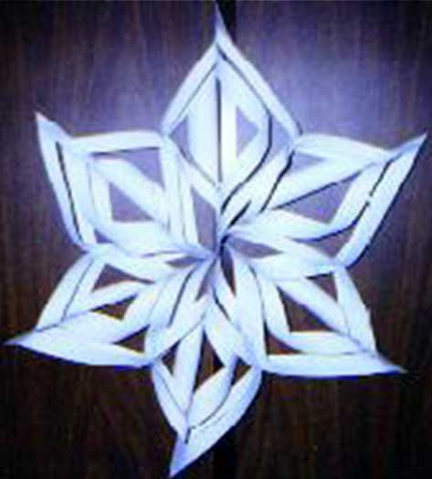 Net Favorite 3 D Snowflake Craft Project