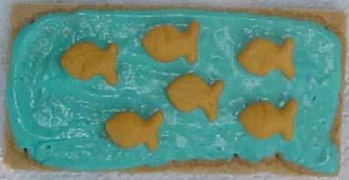 Handy teacher recipes swimmy snack edible bird nests for Edible freshwater fish